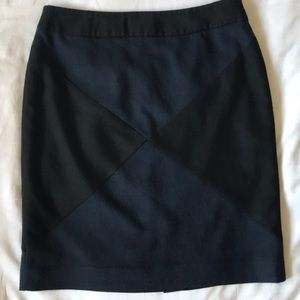Periphery Canadian black and navy diamond skirt